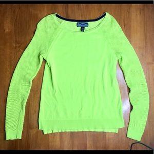 L-RL Ralph Lauren Active Green Lightweight Sweater